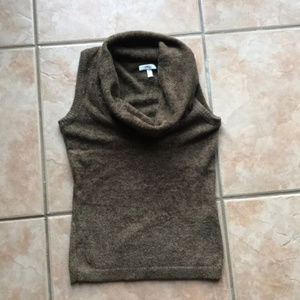 3/$30 VTG Cache Brown Cowl Neck Sweater Tank Small